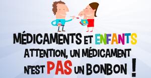 Médicaments chez les enfants: attention un médicament n'est pas un bonbon
